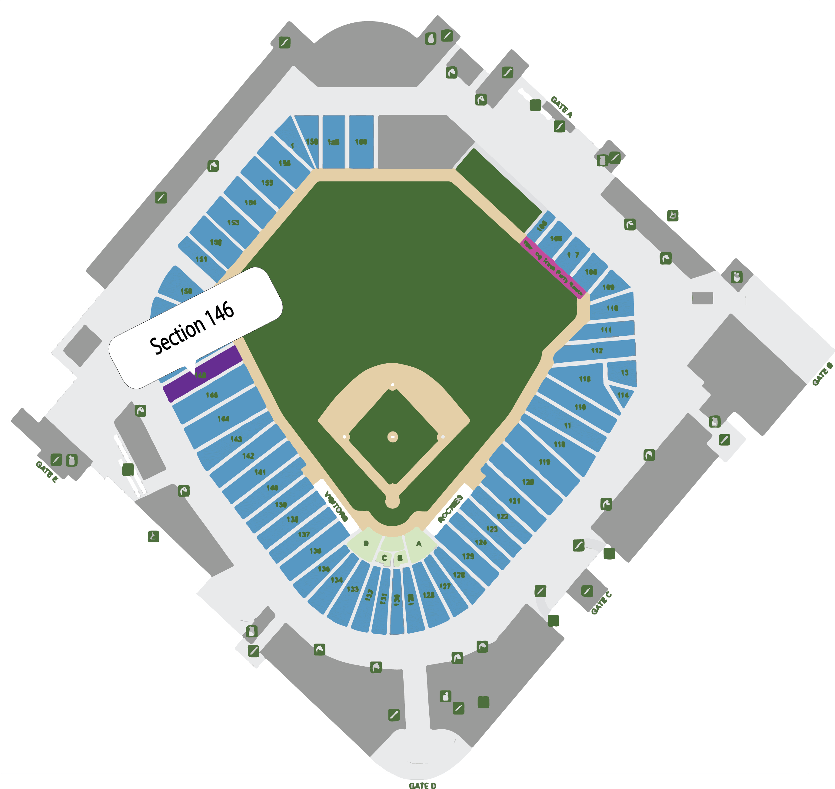 Coors Field Seating Map