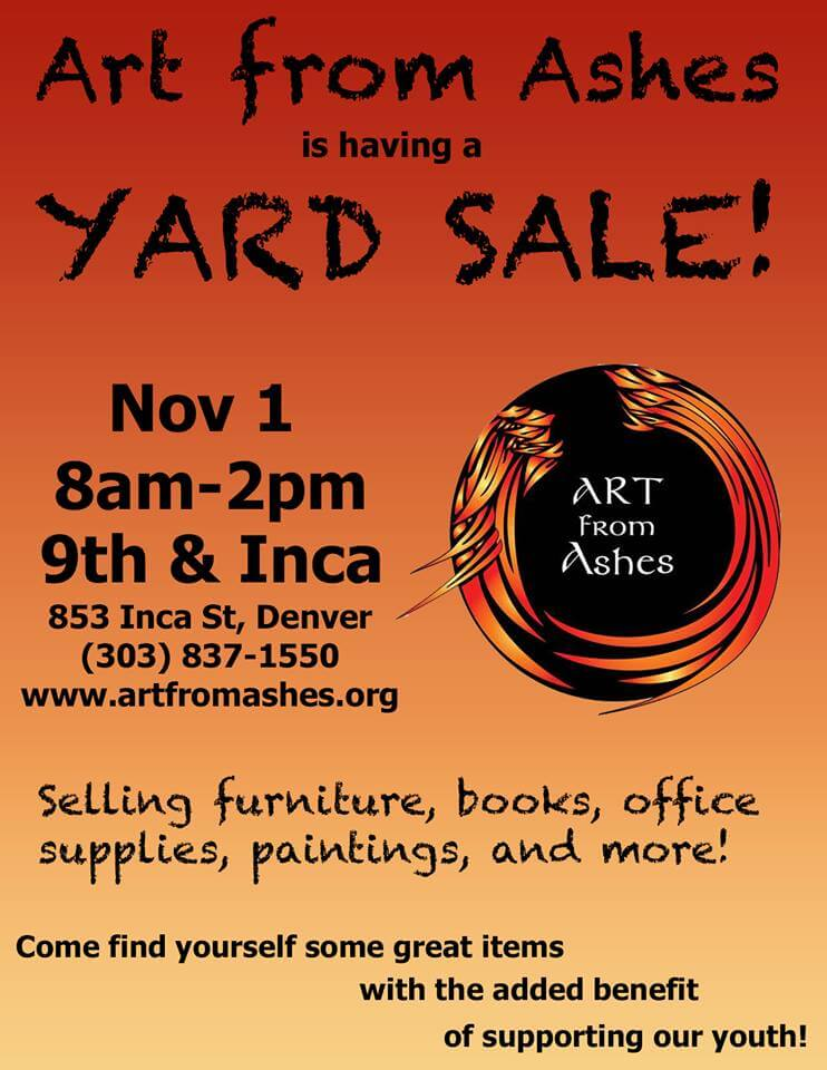 Yard Sale November 1