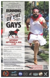 Running of the Gays flyer