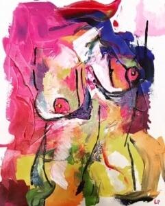 Laura Peña painting-Ladies