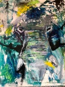 Laura Peña painting-Elephant