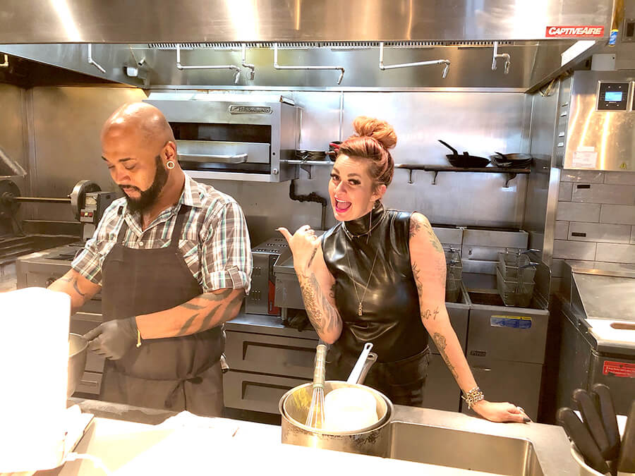 Laura Pena and Chef Brian