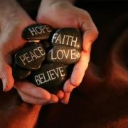 stones faith hope love