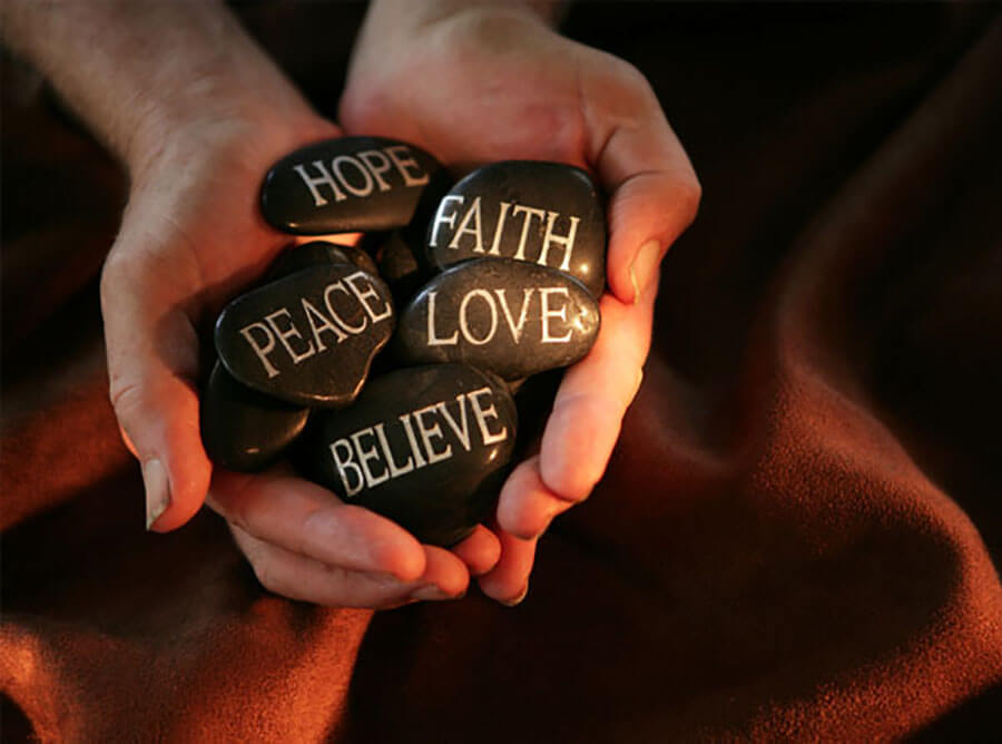 stones faith hope love